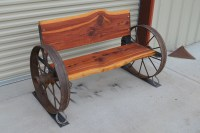 Wagon Wheel Bench Seat