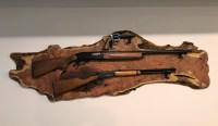 Contemporary Decorative Rifle Wall Mounts Gift - Wall Art ...