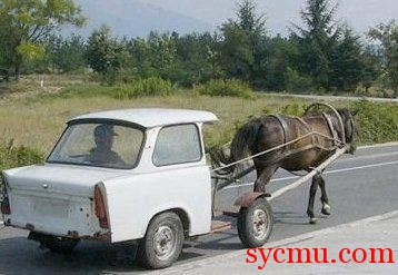 One horse power car