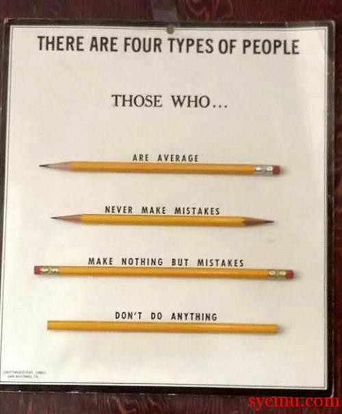 There are Four Types of People and Four types of Pencils