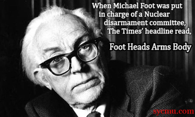 Michael Foot in Charge of Nuclear Arms Committee Foot Heads Arms Body
