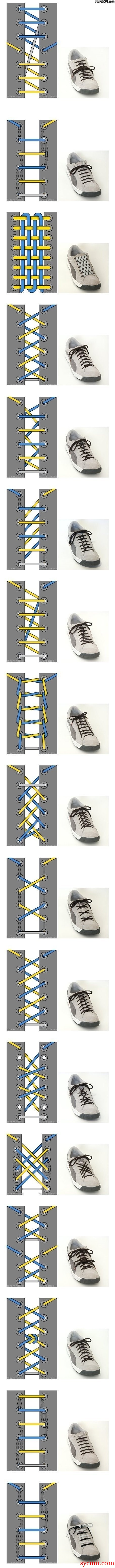 17 different ways to tie your shoelace