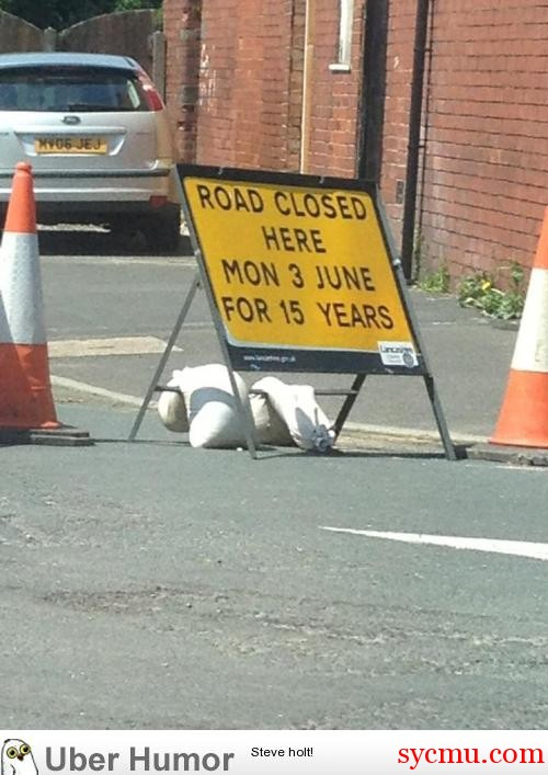 Road Closed for 15 years