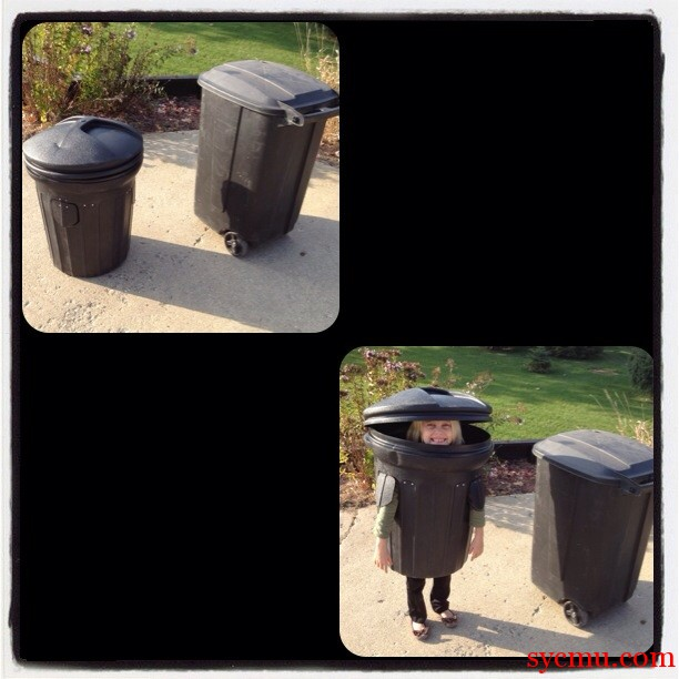 Halloween Trash Can Costume