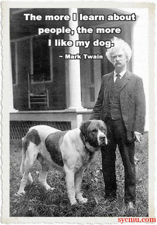 Mark Twain Quote Dog