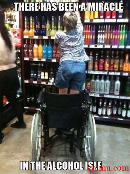 Miracle in the alcohol Isle