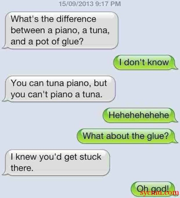 Difference Between Piano, Tuna and a Pot of Glue