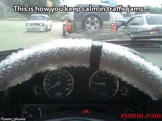 When you're stuck in traffic