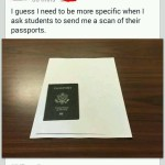 scanning your passport