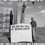 We Do Not Have a Dianosaur