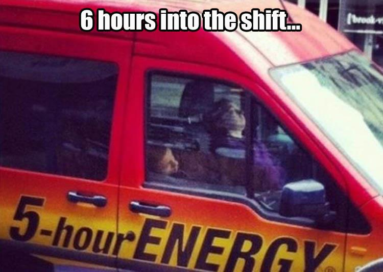 5-hour energy car asleep