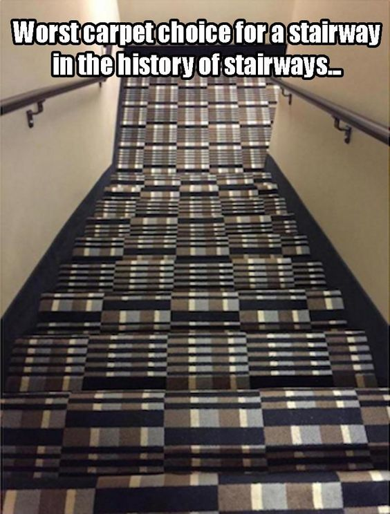 Stair Carpet Bad Choice