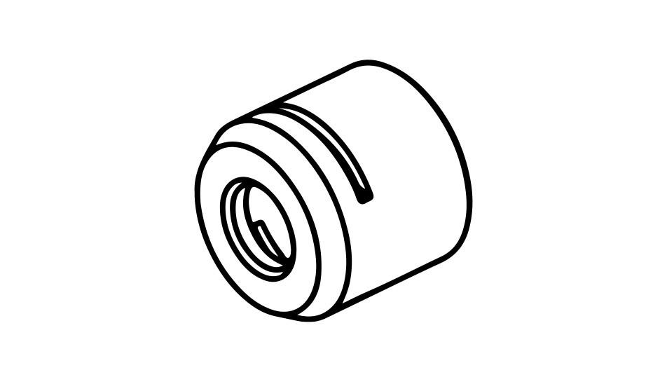 SycoTec GmbH & Co. KG › Clamping nut ER8 MS (M10x0.75)