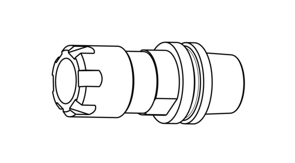 SycoTec GmbH & Co. KG › Tool holder HSK-E25xER16 (M19x1)