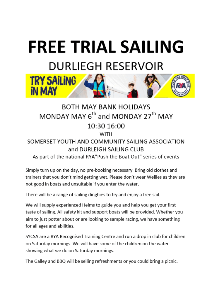 Invitation to Free Trial Sails at DSC