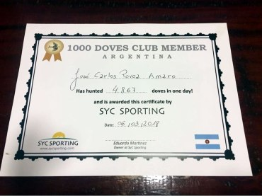 Dove hunting record