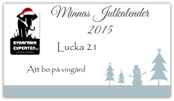 Lucka 21 Att bo på vingård