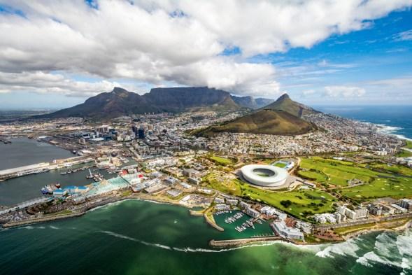 Kapstaden från ovan