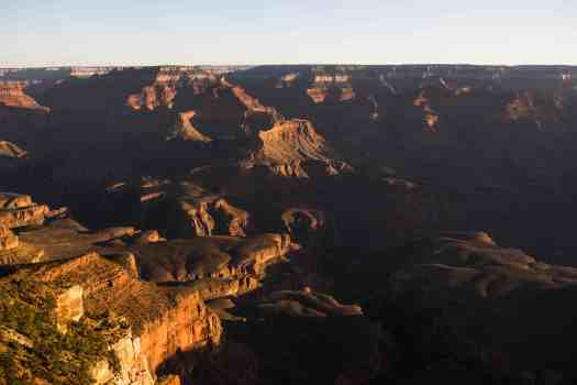 Various Lighting Visuals during the Sunrise at Mather's Point in Grand Canyon, Arizona_07