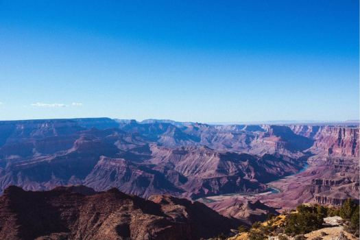 Arizona's Grand Canyon with Colorado River from the Skeleton Point Viewpoint
