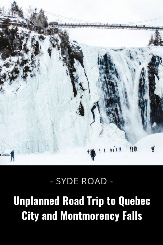 An unplanned 'scavenger hunt'-type trip to Quebec City. 4 winter days looking for shoot locations and sliding down Montmorency Fall's Sugar Loaf mound.