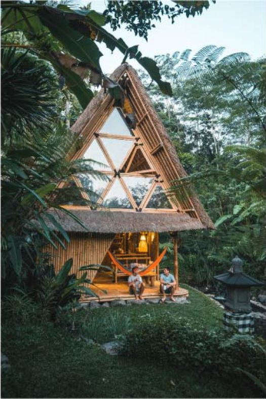 Top 3 Nature and Eco Stays around Bali, Indonesia. Pictured here is Hideout Bali - an AirBnB accommodation.