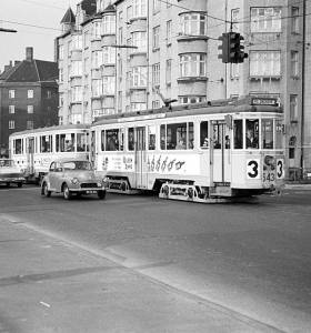 Linie 3 Ved Enghave Station 1967