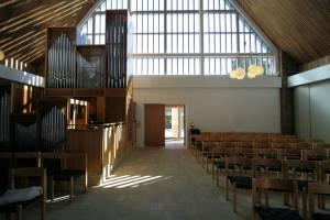 Kirkerummet set fra alteret