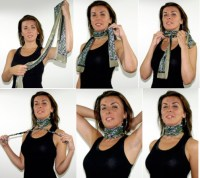 One Scarf, Tied 5 Different Ways