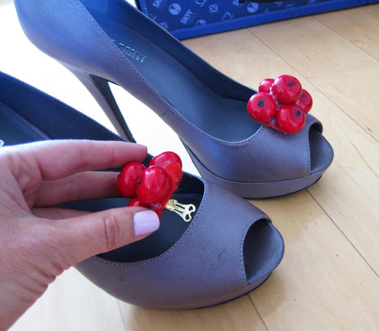 Sydne Summers DIY Cherry Shoe Clips