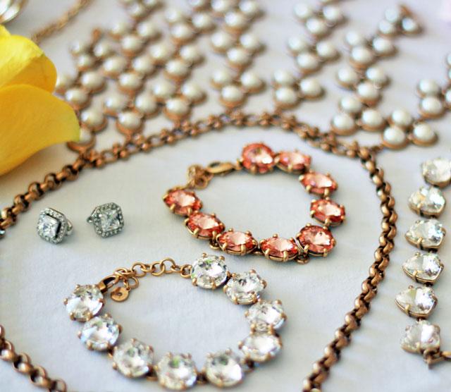 Sydne-Style-Stella-and-Dot-fashion-week-jewelry-peach-crystal-bracelet