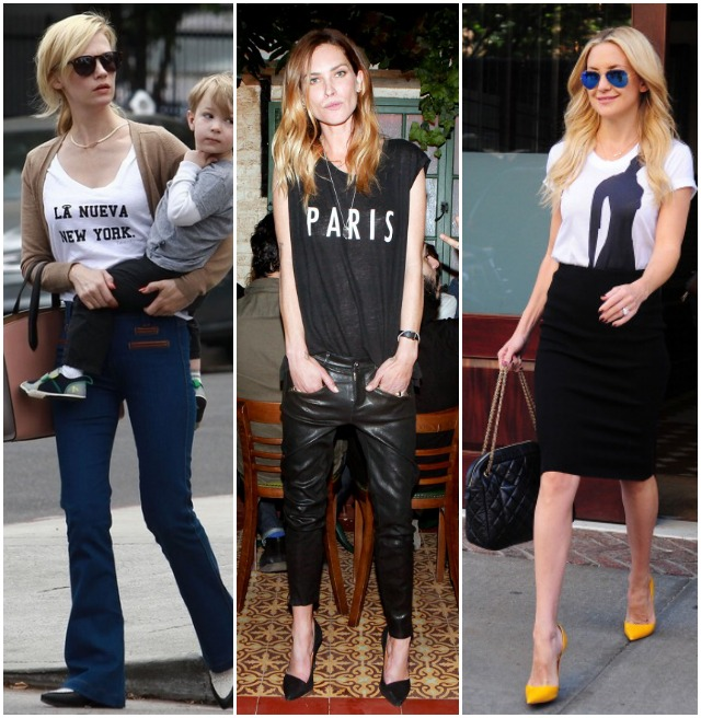 Sydne Style graphic tee trend how to wear graphic shirts celebrity style january jones kate hudson erin wasson.jpg