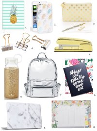 Fashionable Back-to-School Supplies   Shopping