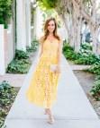 Self Portrait Yellow Lace Dress