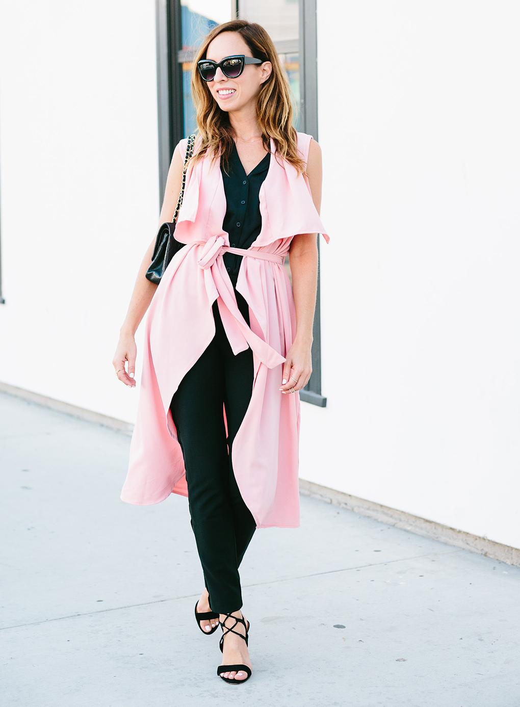 Victoria Beckhams Summer Duster Vest  Celebrity Fashion
