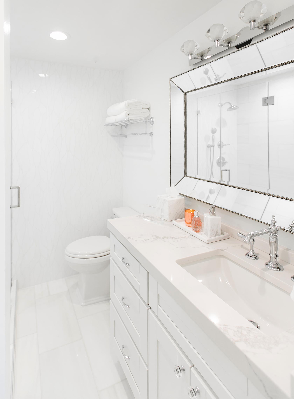 White Marble Bathroom Decor Ideas  Home Redesign