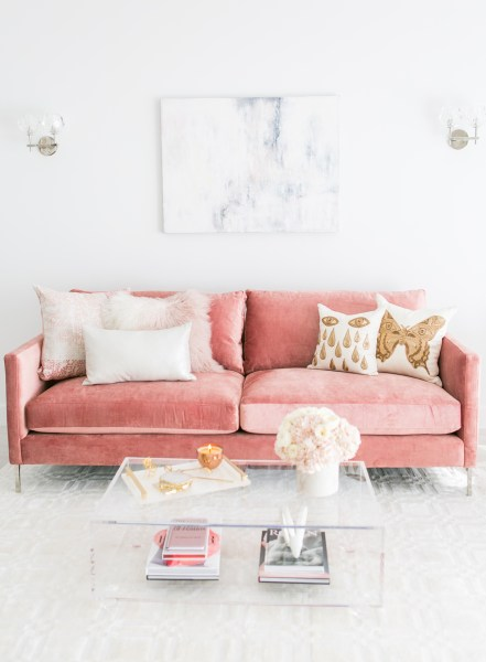 pink glam living room decor Blush Living Room Decor | Redecorating & Design