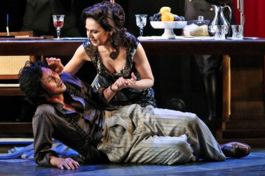 Yonghoon Lee as Cavoradossi and Alexia Voulgoridou as Floria Tosca. Pic Prudence Upton