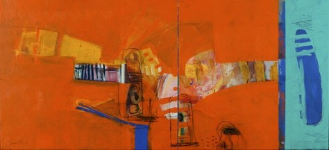 Inset pic- Phillip Stallard 'Taronga Sandstone Myth'. Featured pic- Sally West 'View to Angel Restaurant'