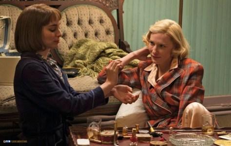 Rooney Mara and Cate Blanchett in Todd Haynes' new romantic drama CAROL.