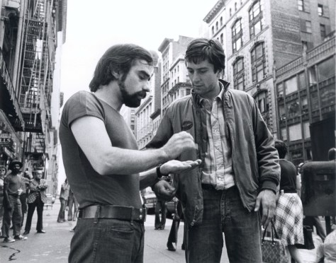 -Martin Scorsese and Robert De Niro on the set of TAXI DRIVER in New York City in 1976.