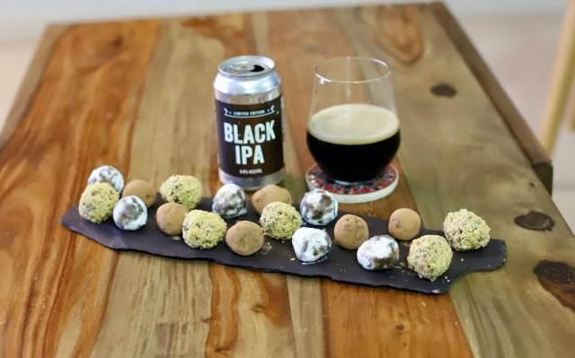 Black IPA chocolate Truffles