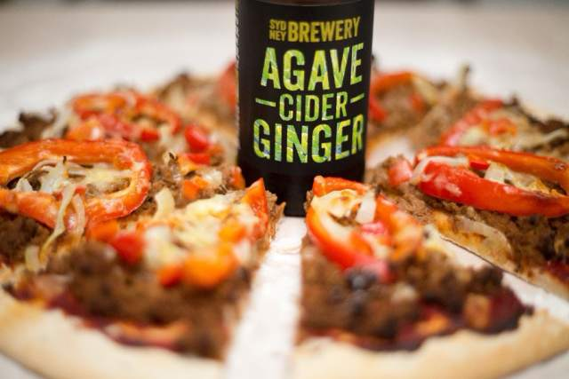 Mexican ginger agave pizza