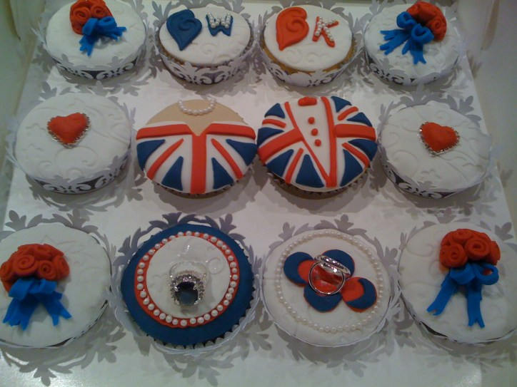 Cupcakes designed for the Royal Wedding