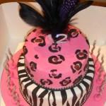 Leopard & Zebra Birthday Cake