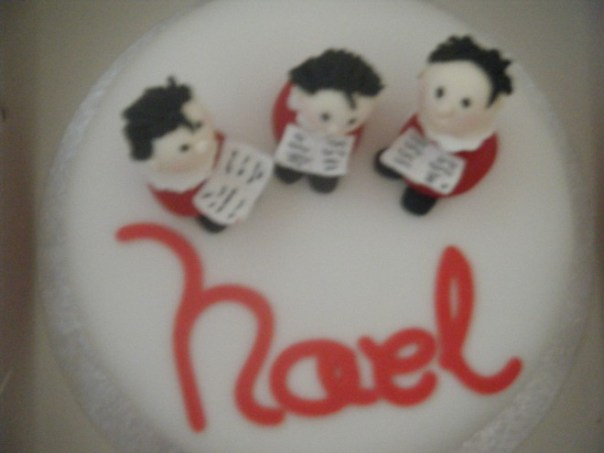 Noel — choir boy cake