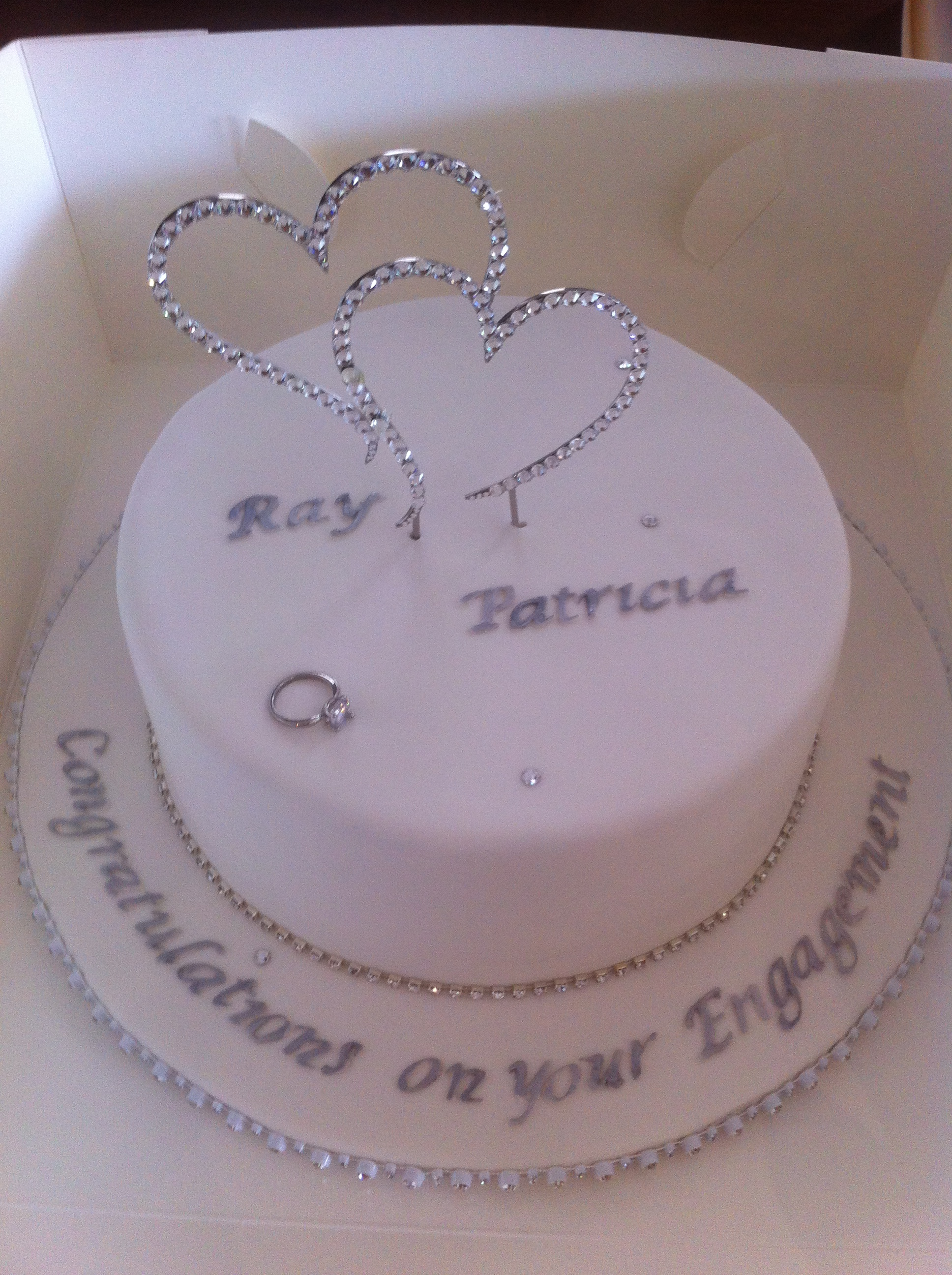 Simple Amp Stylish Engagement Cake Sydney Cake Art