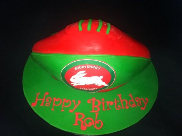 Rabbitohs Football Cake