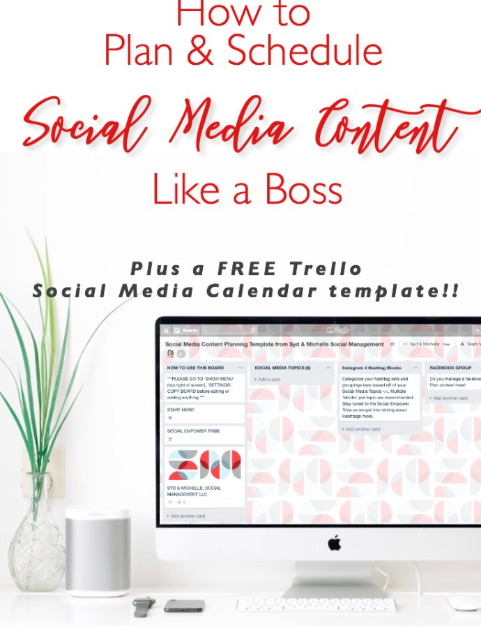 How to Plan & Schedule Social Media Content like a Boss