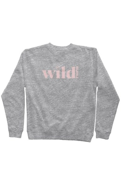 Wild Mama Sweatshirt - grey with pink letters
